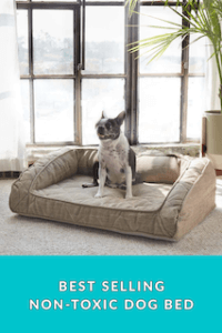 Chemical Free Dog Bed with Bolster and a 3 year warranty